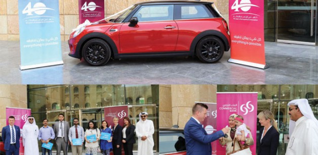 Motor show contest winner wins a Mini Cooper