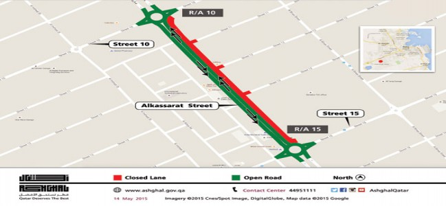 Al Kassarat traffic diversion expected to last six months