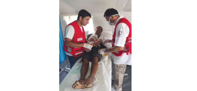 More than 300 patients treated in Nepal in two days by QRC unit