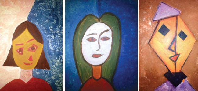 Three paintings donated by Shafallah kids for 'Educate a Child'