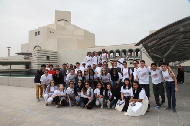 US Students in Doha while participating in an educational exchange trip