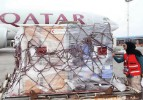 Qatar Red Crescent setting up a field hospital in Nepal