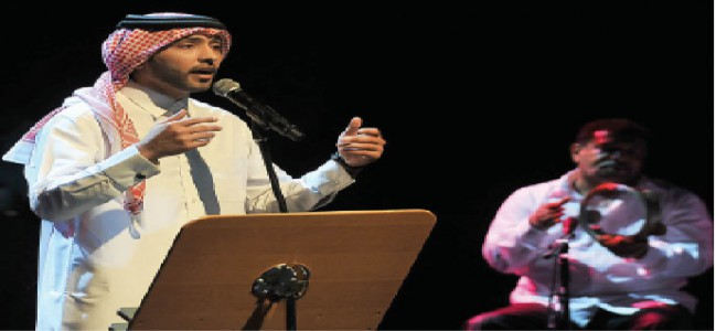 Fahad Al Kubaisi gives opening rendition at charity concert for a hospital in Palestine